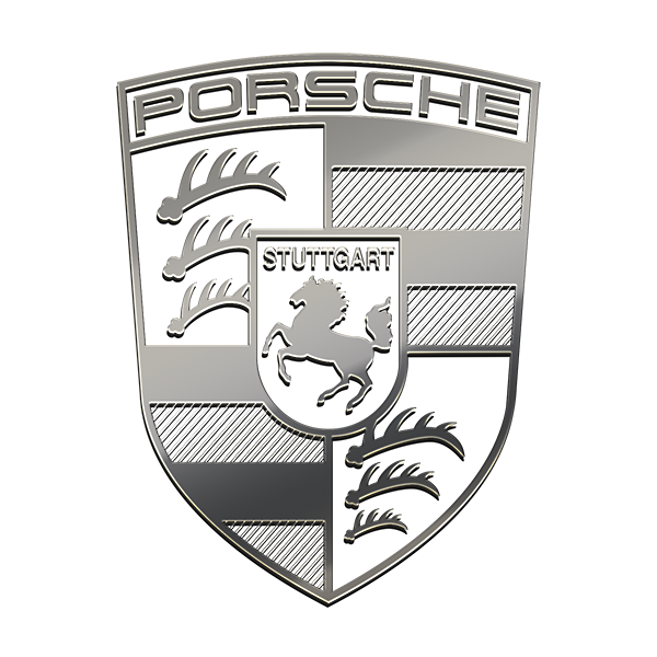 PORSCHE NICKEL STICKER