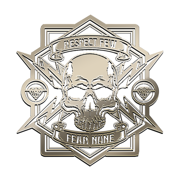 FEAR NONE Nickel Sticker