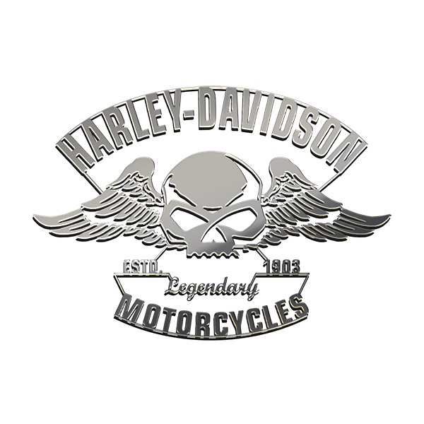 HARLEY DAVIDSON Nickel Sticker