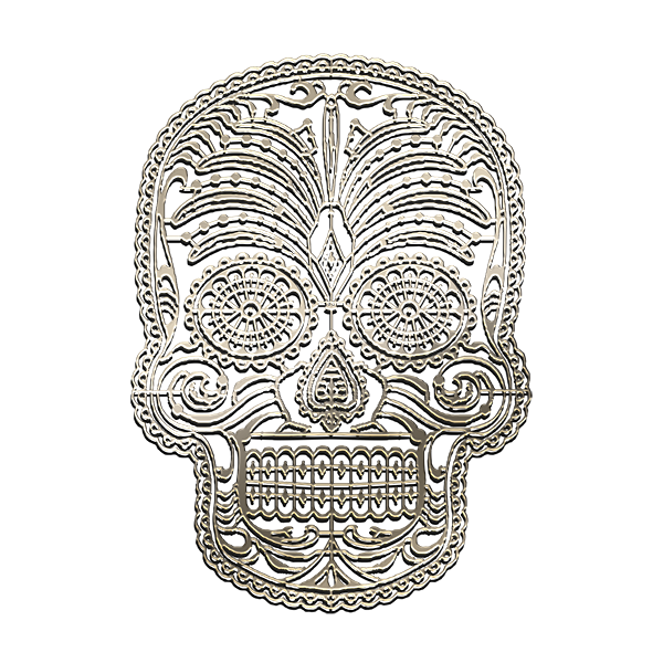 MASK MEXICAN Nickel Sticker