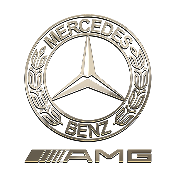 MERCEDES AMG Nickel Sticker