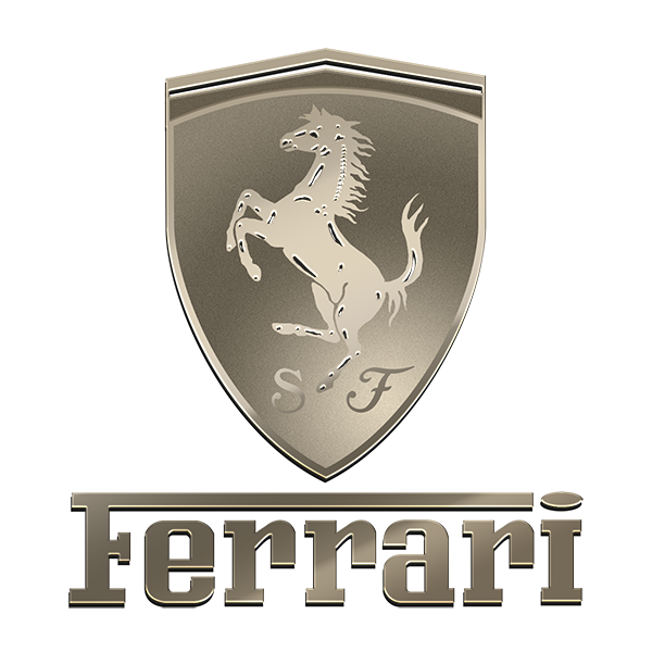 FERRARI NICKEL STICKER