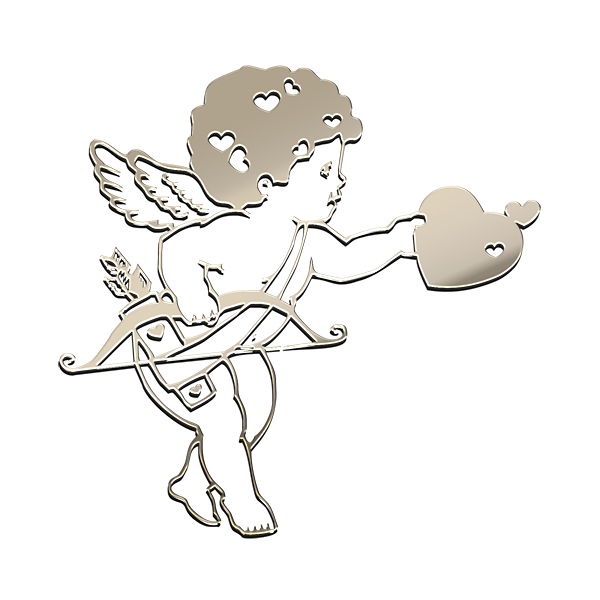 CUPID NICKEL STICKER